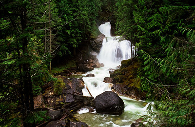 Waterfall along the Trans-Canada Highway