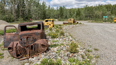 WWII Vehicles at the Start of the South Canol Road