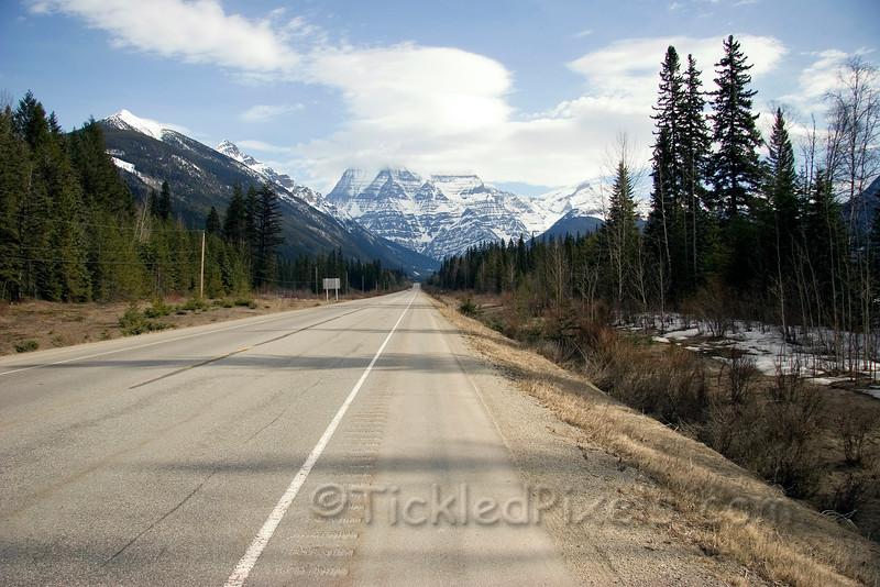 North toward Mount Robson