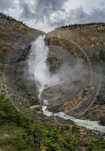 Takakkaw Falls Field British Columbia Canada Panoramic Landscape Fine Art Photography Creek Island - 016969 - 20-08-2015 - 7533x10872 Pixel