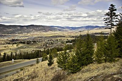 Coquihalla Highway above Merritt, B.C.