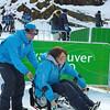 Matt Teach Alex to Sit Ski #2
