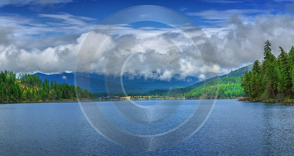 Premier Lake Skookumchuck British Columbia Canada Panoramic Landscape Royalty Free Stock Images - 017505 - 03-09-2015 - 14559x7710 Pixel