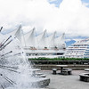Cruise ship docked at Canada Place in Vancouver