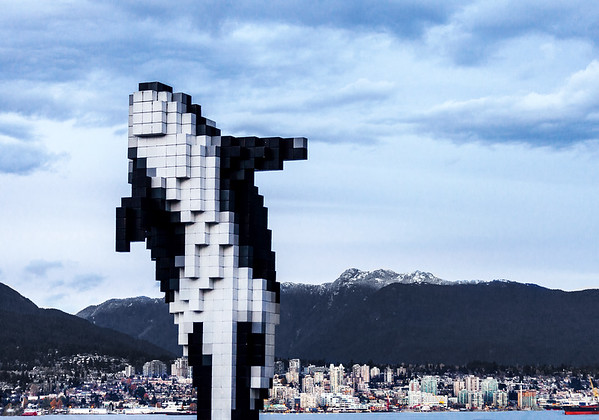 Digital Orca in downotwn Vancouver