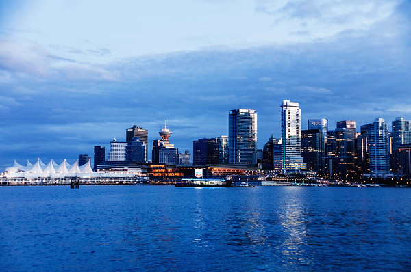 Vancouver's skyline at dawn