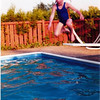 Linds jumping in to pool