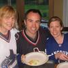 Patty, Matt, Linds Hockey fans