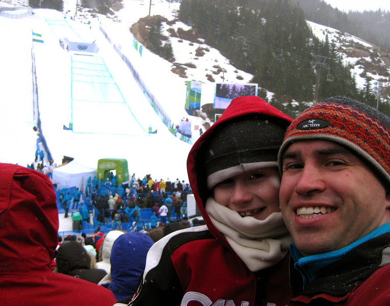 Kerry, Steph, Tessa and Jack went to Women's Ski Cross at Cypress Mountain with Matthew.  It was Kerry's birthday and Canadian Ashleigh McIvor won gold.