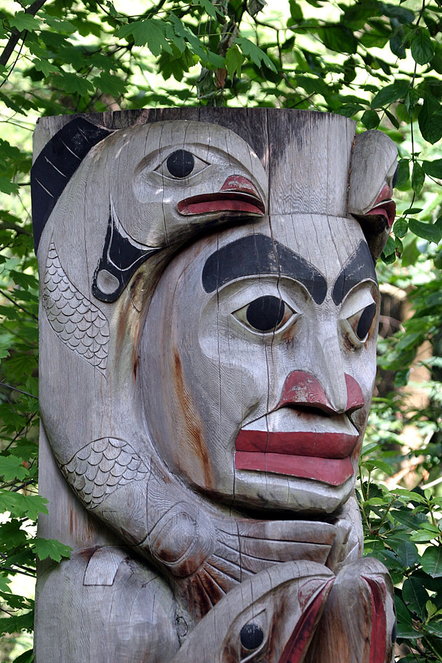 Totem at Capilano Suspension  Bridge - Vancouver BC