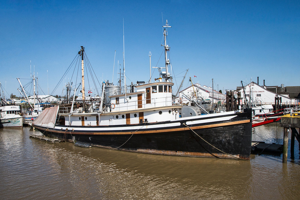 A glimpse of an Old Wooden Trawler at Steveston Wharf
