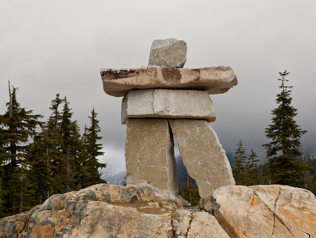 Inukshuk at the Vancouver 2010 Ski jumping venue