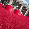 Giant Cranberries fill the wading pool at Richmond city Hall, BC