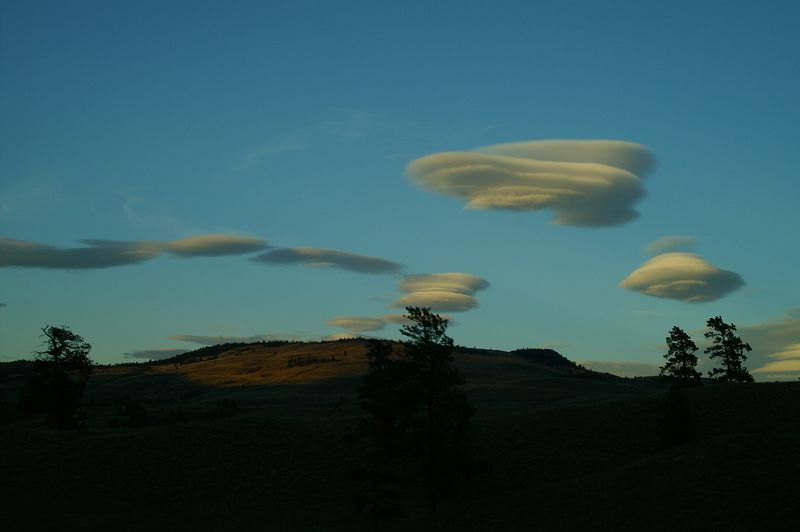 Unusual clouds while on the Coquihalla Highway near Merritt.
