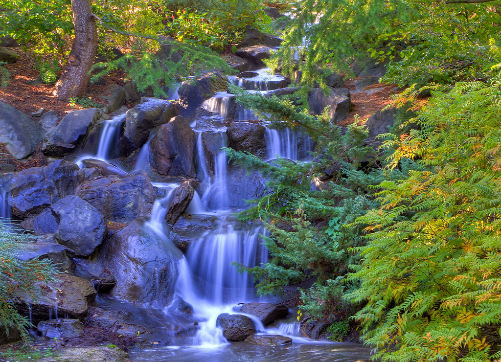 The Waterfall at VanDusen Gardens, Vancouver, BC. Processed in HDRSoft's Photomatix, October, 2010