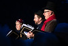 Vancouver Island, Butchart Gardens - Christmas carolers performing before lighting ceremony, alternate