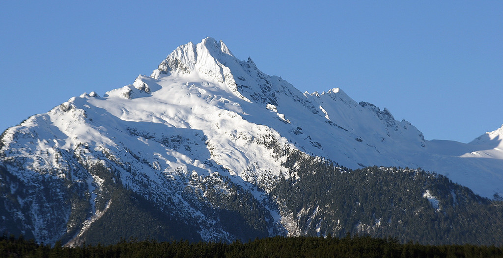 A view of the Coastal Mountains near Horseshoe Bay, BC