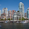 Vancouver Condos as seen from the boardwalk on Granville Island
