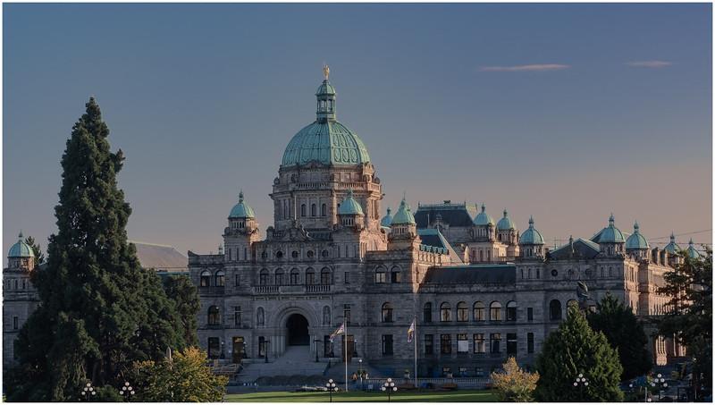 British Columbia Parliament at Sunset