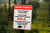 Golden, Kicking Horse - Grizzly bear refuge warning sign