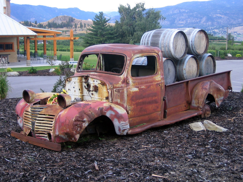 Wine truck - found at a winery in the Okanagan Valley, BC