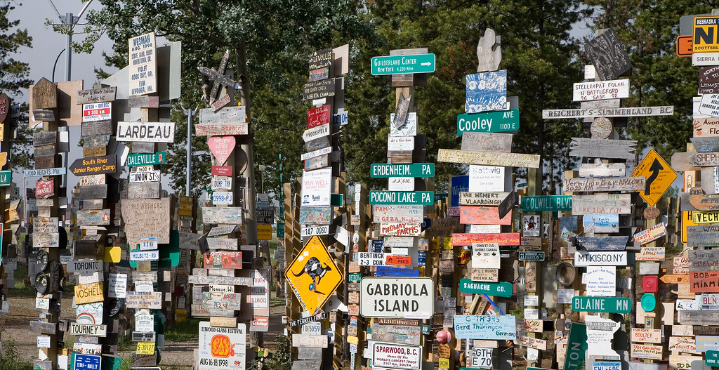 The Signpost Forest, Watson Lake, Yukon Canada
