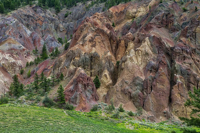 The Painted Bluffs along Deadman's Road near Kamloops, BC.