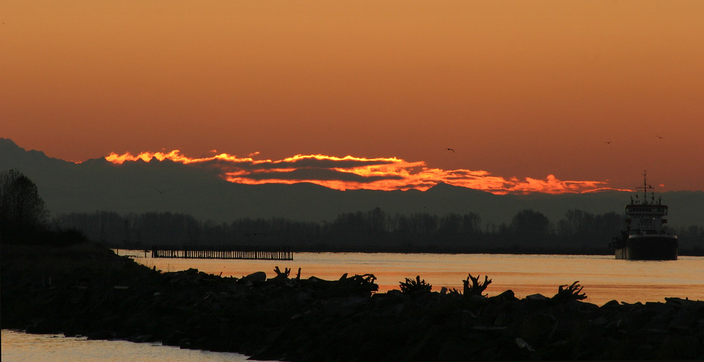 Sunrise at Steveston Village, BC