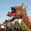 The Dragons greet the crowds in the Ricxhmond O-Zone