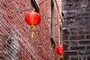 Vancouver Island, Victoria - Chinese lanterns above Fan Tan Alley