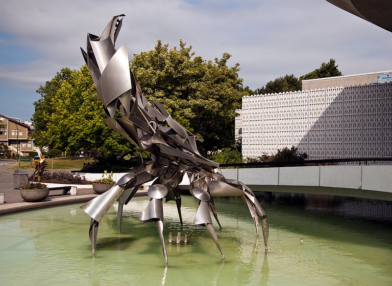 The Crab at the entrance to the Vancouver Planitarium, BC