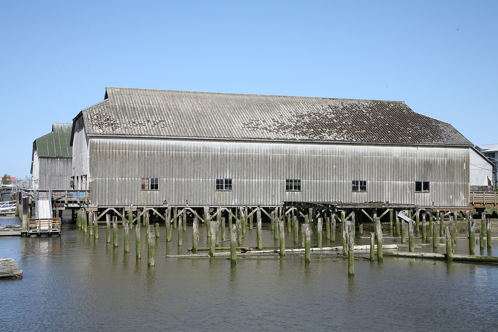 Remains of a former great shipbuilding area. This building now houses an active refit project for local boats as part of historic Steveston