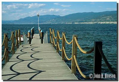 1958_BC-1-0337-NCS-BritishColumbia.jpg : Boat jetty at the shore line of Okanagan Lake, Penticton, BC