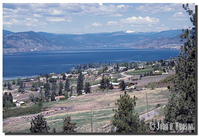 1932_BC-1-0109-NCS-BritishColumbia.jpg : Southern reaches of Naramata, Okanagan Lake and Summerland on the far shore taken from the Kettle Valley rail bed walking trail north of Penticton, BC