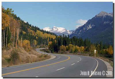 """1578_1982006-R5-C2-NCS-BritishColumbia.jpg : Trans Canada Highway eastbound between Sicamous and Craigellachie [site of the """"Last Spike"""" in the building of the Canadian Pacific Railway]"""