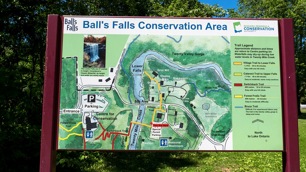 Ball's Falls Hiking Trails Map