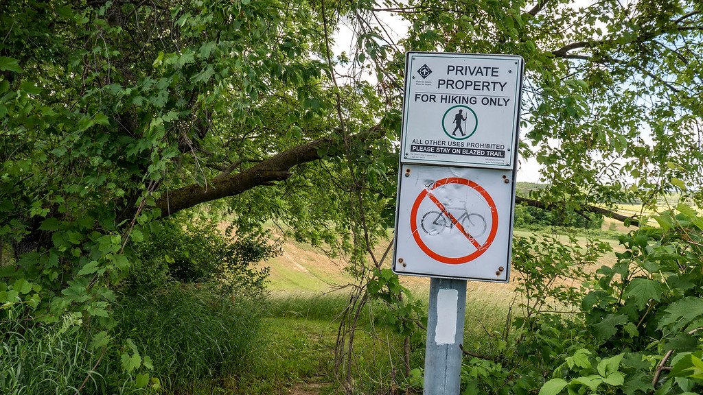 Private property on the Bruce Trail