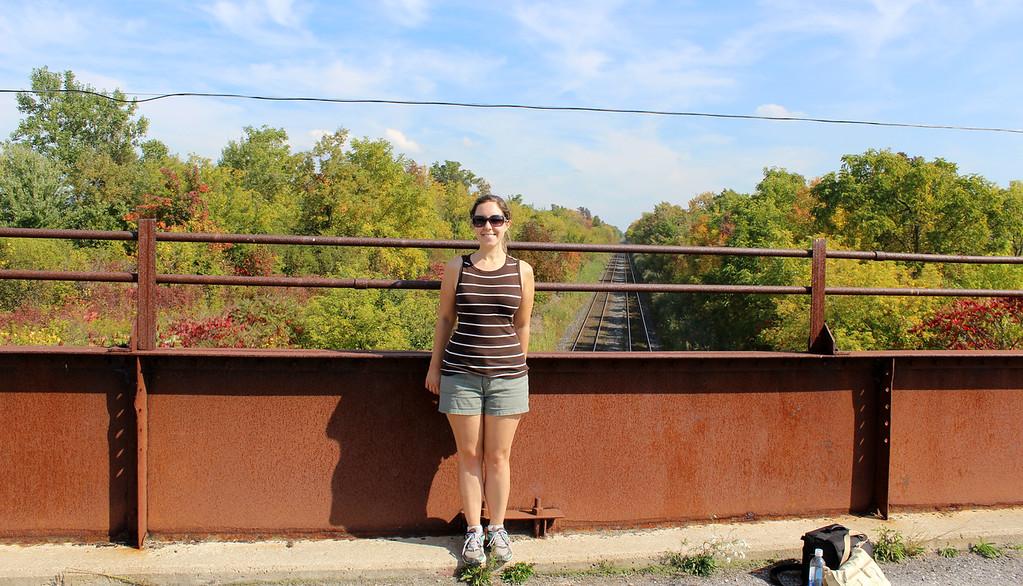 Lauren hiking the Bruce Trail