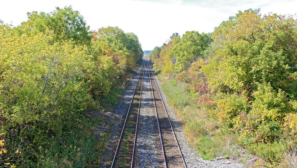 Railroad tracks on Mewburn Road in Niagara