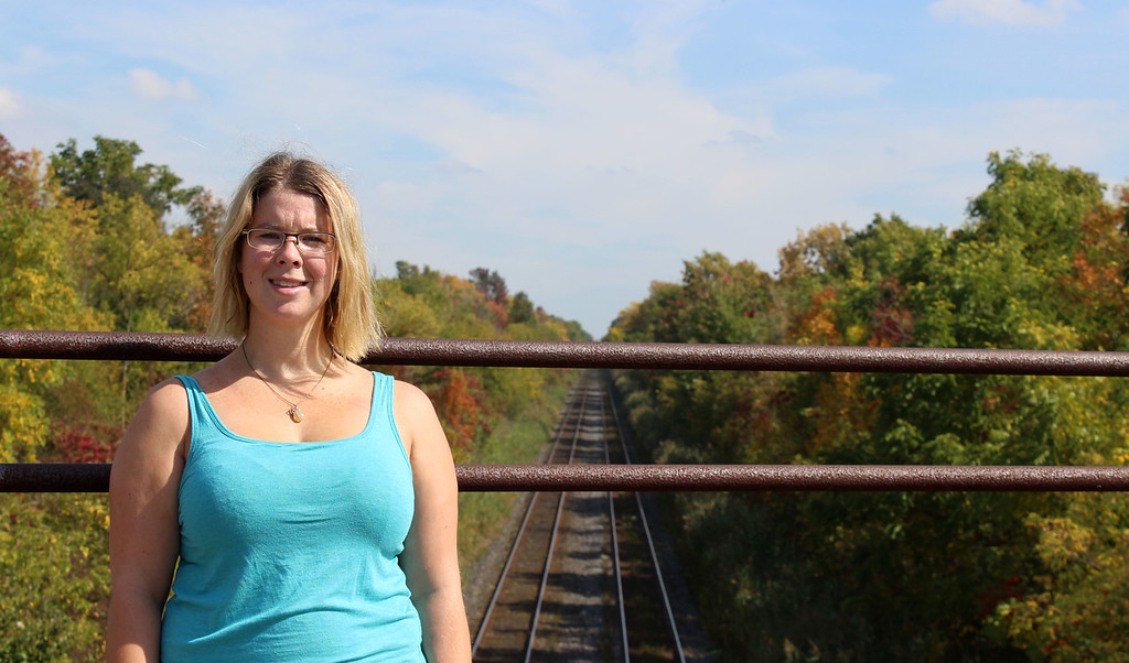 Shannon hiking the Bruce Trail