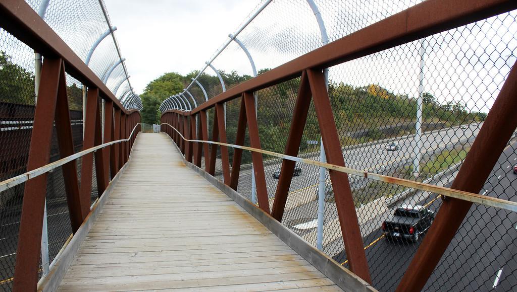 The Bruce Trail across the QEW Highway bridge