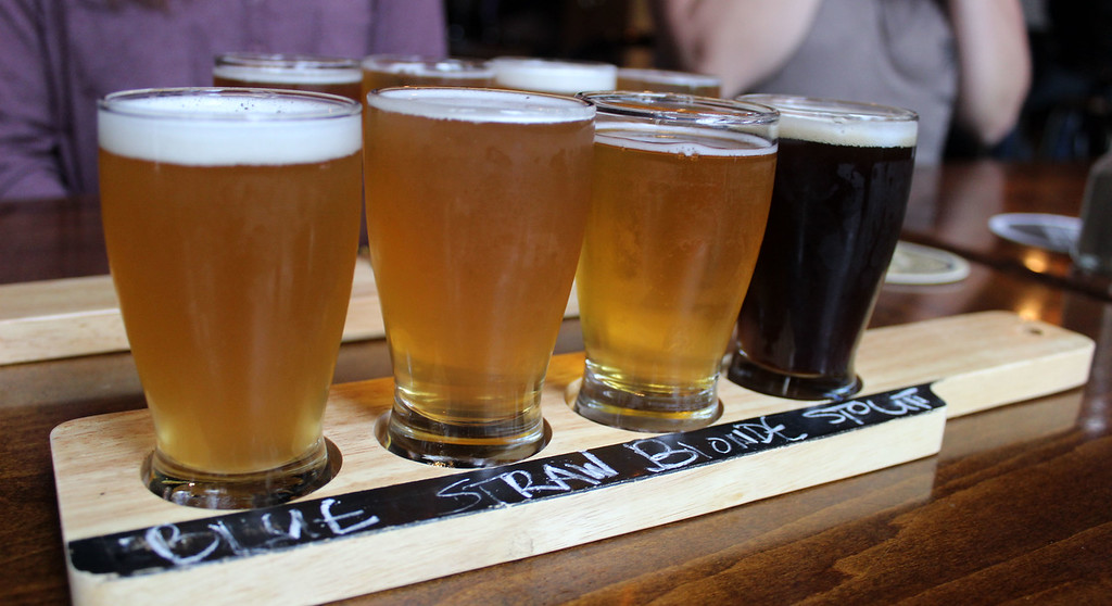 Beer flight at the Merchant Ale House St Catharines Ontario