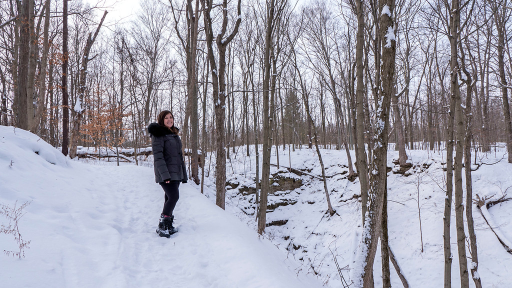 Niagara hiking trails in the winter - Short Hills Provincial Park