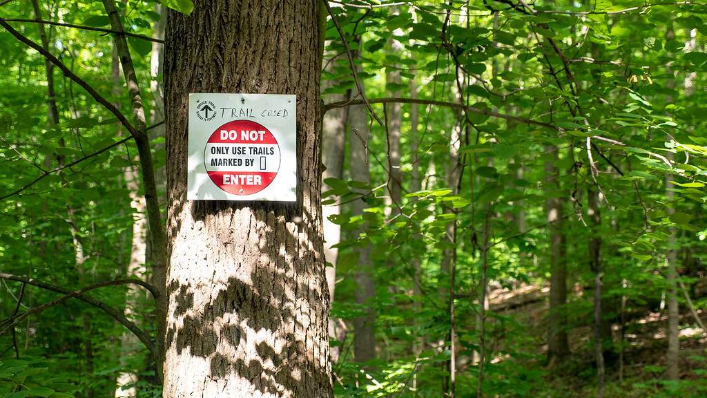 Trail closed on the Bruce Trail