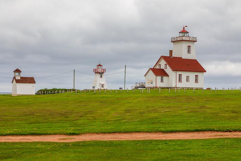 CANADA-PRINCE EDWARD ISLAND-Wood Islands Lighthouse, Wood Islands front range and rear range lighthouse
