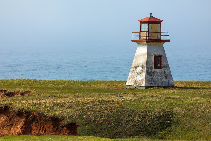 CANADA-Quebec-Îles de la Madeleine- Havre aux Maisons-Cape Alright lighthouse