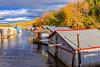 CANADA-QUEBEC-EASTERN TOWNSHIPS-OGDEN-BOAT HOUSES