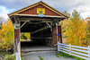 CANADA-QUEBEC-EASTERN TOWNSHIPS-STANSTEAD-NARROWS COVERED BRIDGE