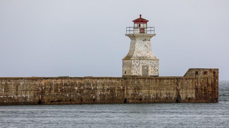 CANADA-NEW BRUNSWICK-Cape Tormentine-Cape Tormentine Outer Wharf Lighthouse