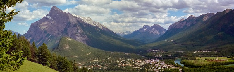 Banff  Village Panorama